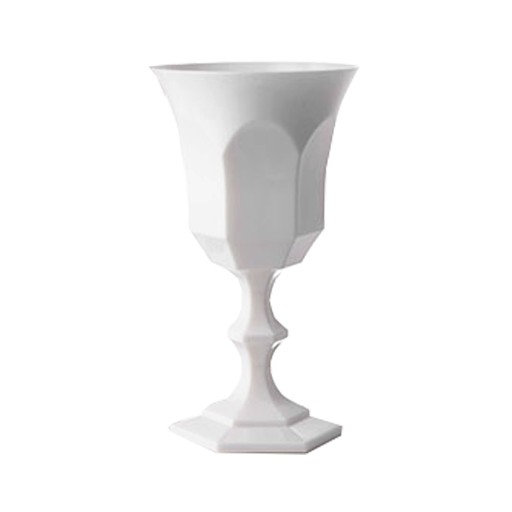"Acrylic Glassware Acrylic V & A Water Goblet White 6.5""H"