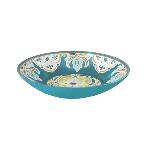 Le Cadeaux Tangerine Melamine Oval Serving Bowl