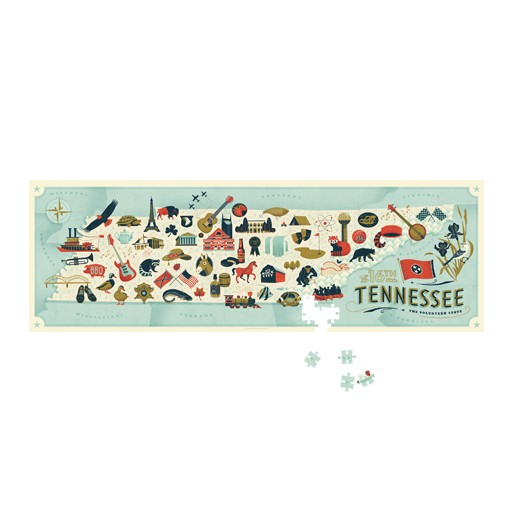 True South Puzzle Tennessee Map Puzzle