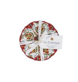 Le Cadeaux Appetizer Plates set/4 Allegra Red