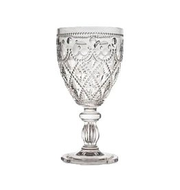 Acrylic Glassware Diamente Acrylic Wine Glass Silver