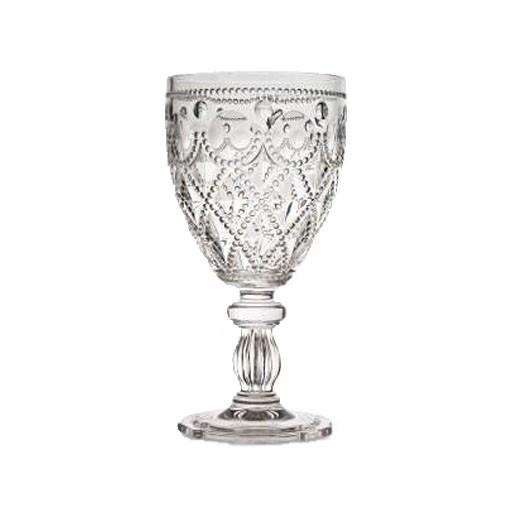 Acrylic Glassware Diamente Acrylic Wine Glass Silver