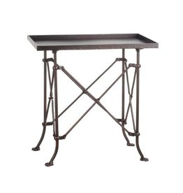 """Metal side table in bronze finish 20""""H x 12W x 20"""" High"""