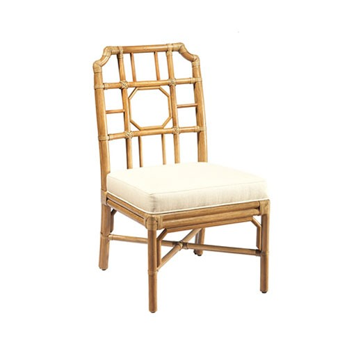 Selamat Regent Side Chair in Nutmeg with Cushion in Rice