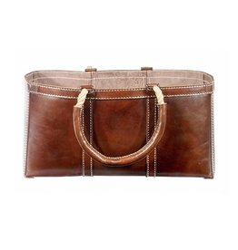 Selamat Leather Log Bag Brown