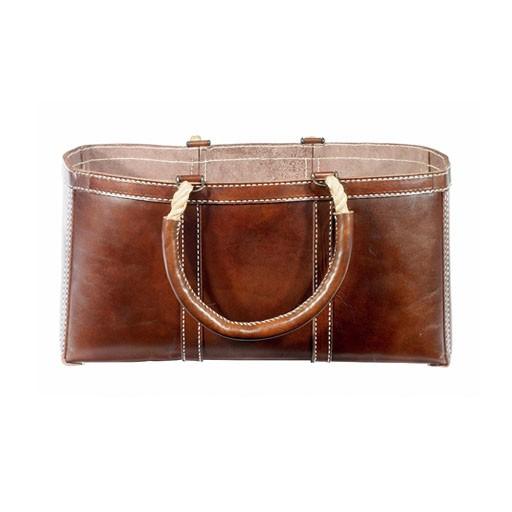 Selamat Leather Log Bag Brown