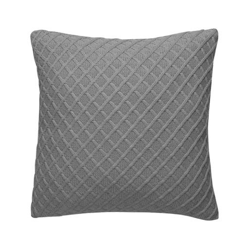 Diamond Pillow 100% cotton Grey & Insert