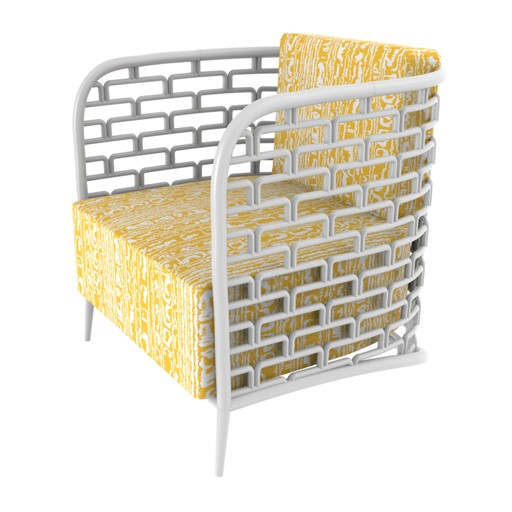 Selamat Mod Steps Lounge Chair White