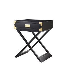 Selamat Chiba Side Table - Ebony Lacquer