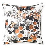 Selamat Chinese Gardens Black Pillow 20x20