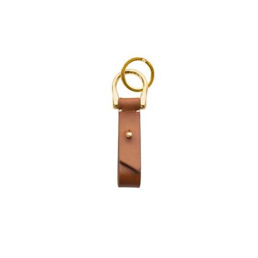 Leather Key Fob, Cognac