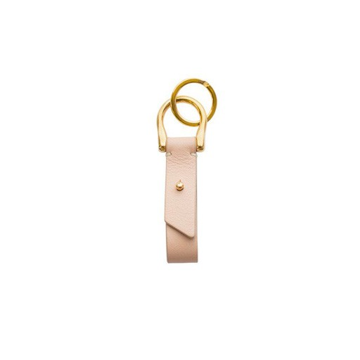 Leather Key Fob, Pale Pink