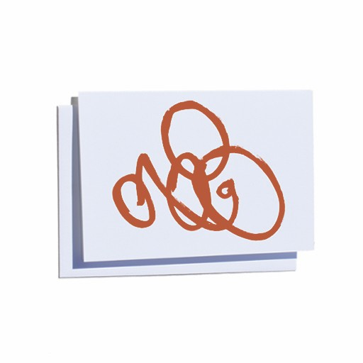 Steve McKenzie Stationery Orange Card