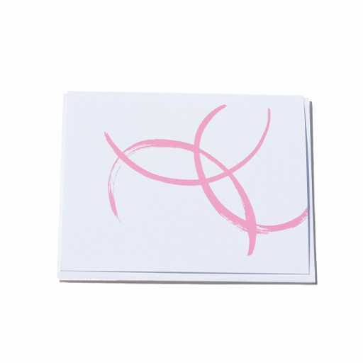Steve McKenzie Stationery Pink Card
