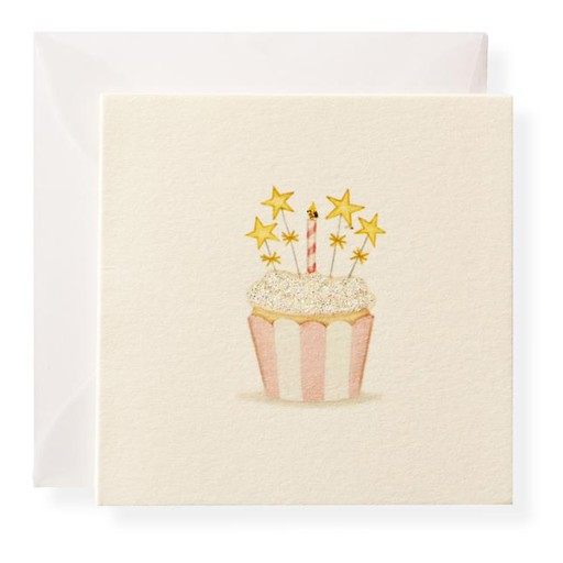Spangle Cupcake Enclosure Card
