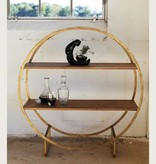 Circle Shelf/Bar Cart Gold