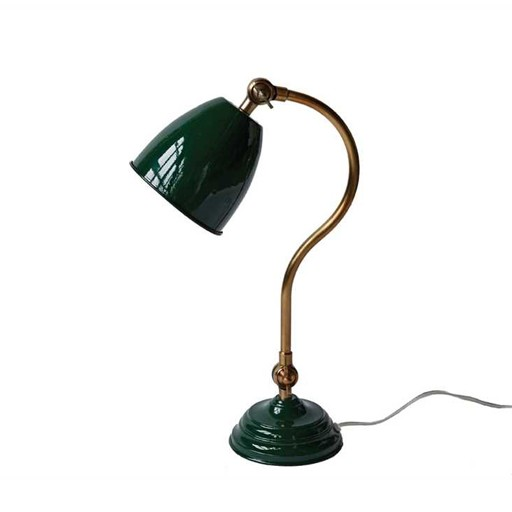 """Green Desk Lamp 17.5""""H"""