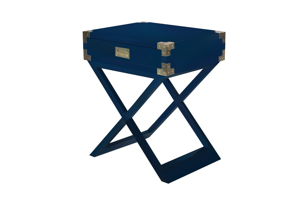 Selamat Chiba Side Table - Navy Lacquer