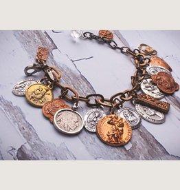 Mark Edge Jewelry Vintage St. Christopher Bracelet