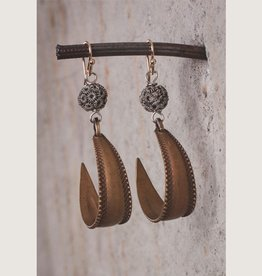 Mark Edge Jewelry Vintage Bronze Stamping Earring