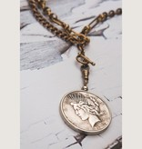 """Mark Edge Jewelry Vintage & Recycled Peace Dollar 37""""L by Mark Edge"""