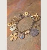 Mark Edge Jewelry Vintage Funky Charm Bracelet by Mark Edge
