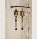 Mark Edge Jewelry Brushed Hematite Earrings by Mark Edge