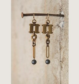 Mark Edge Jewelry Brushed Hematite Earrings by Mark Edge