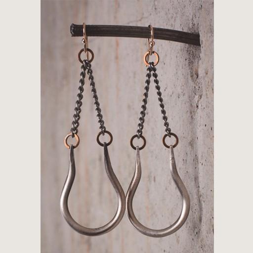 Mark Edge Jewelry Vintage Plated Nickel Teardrop Earring by Mark Edge