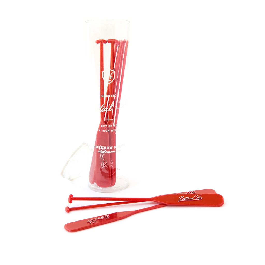 Drink Stirs - Bottoms Up  Set/10 Red