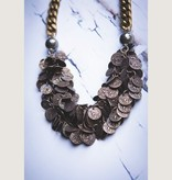 """Mark Edge Jewelry Brass Ox Coin Chain, 16"""" Pyrite Chain Necklace or Bracelet by Mark Edge"""