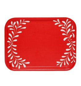 Love Doves Red Tray