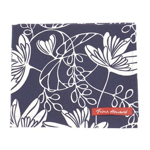 Waterlily Indigo Tea Towel