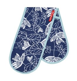 Oven Gloves Waterlily Indigo Blue