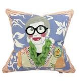 """Iris Apfel Pillow 21"""" x 21"""""""