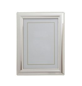Silverplate Frame Smooth Beaded 4x6""