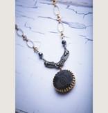 "Mark Edge Jewelry Vintage Fendi Cabochon, 15-18"" Adj Length Necklace by Mark Edge"