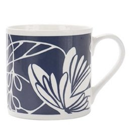 Indigo Waterlily Mug