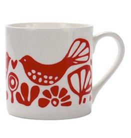 Love Doves Red Mug