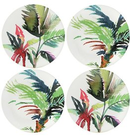 Gien Gien Jardins Vegetal Canape Plates Set/4