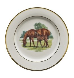 """Julie Wear Blue Grass Salad Plate 8"""""""