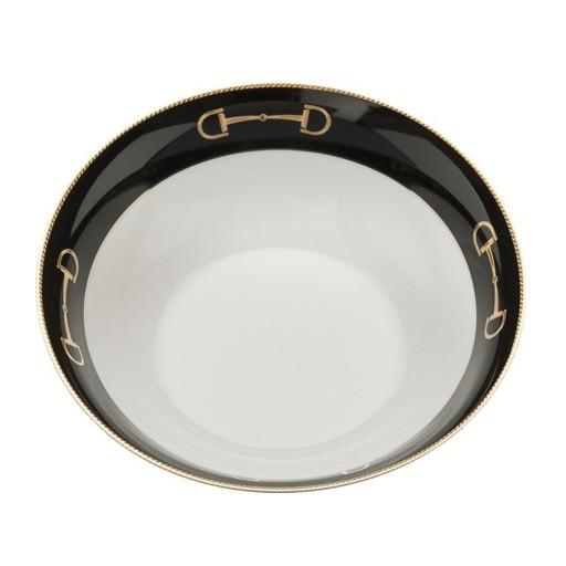 """Julie Wear Cheval Black Serve Bowl 9"""""""