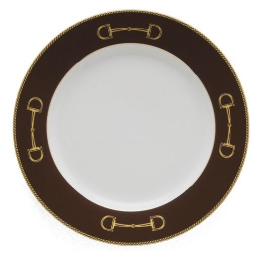 Julie Wear Cheval Brown Dinner Plate