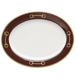 Julie Wear Cheval Brown Oval Platter