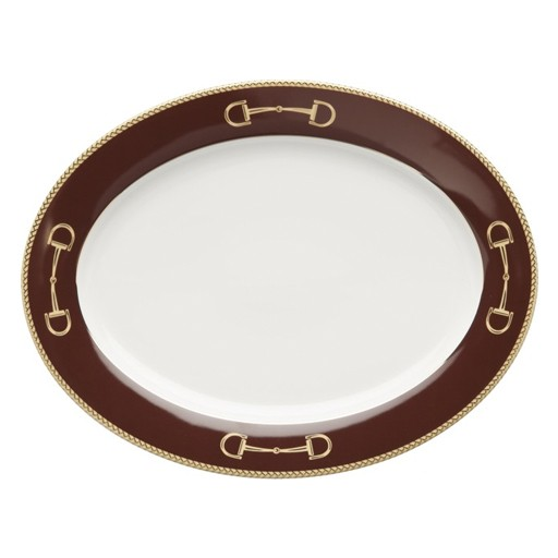 Julie Wear Cheval Brown Oval Platter