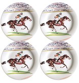 Gien Gien Cavaliers Race Small Plates Set/4