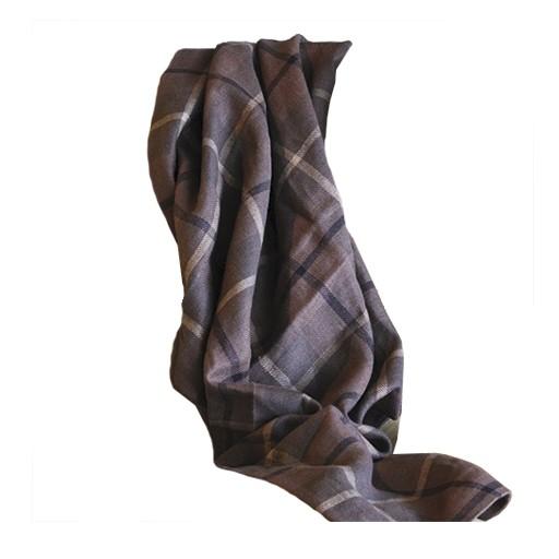 """Libeco Bertie Blanket Check Linen 40""""x53"""""""