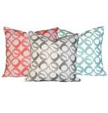 """steve mckenzie's Circle Linen Pillow Oyster Background 20""""x20"""""""