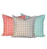 "steve mckenzie's Polka Dots Linen Pillow Oyster Background 20""x20"""