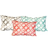 "steve mckenzie's Circle Linen Pillow Oyster Background 14""x20"""